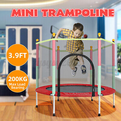 4FT Mini Trampoline Set With Enclosure Safety Net Kids Outdoor Indoor Toy Play • 58.51£