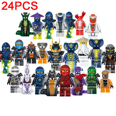 24pcs Ninjago CUSTOM Lego Mini Figures Set Zane Lloyd Kai Cole Pythor Master NEW • 12.95£