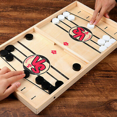 Fast Sling Puck Game Paced Sling Puck Winner Board Toys Family Games Juego Child • 10.59£