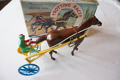 Louis Marx Mechanical Trotting Horse Racer Original Boxed WInd Up Toy • 99.99£