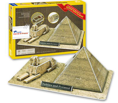 Sphinx And Pyramid Of Egypt Giza 3D Model Puzzle Jigsaw Ancient Z-B067 • 9.97£