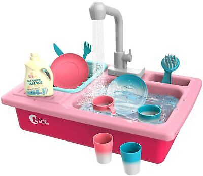 Kitchen Toys Color Changing Kitchen Sink Role Play Pretend Toy Set For Kids Gift • 16.99£