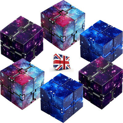 Sensory Infinity Cube Stress Fidget Toys For Autism Anxiety Relief Kids Adult UK • 3.89£