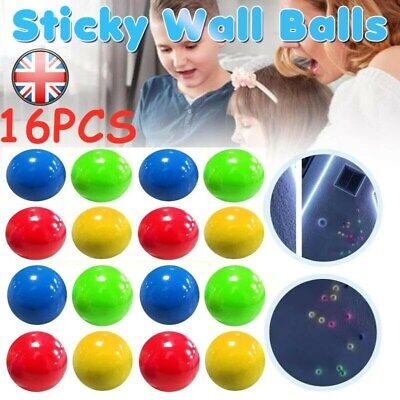 16X Stick Wall Balls Stress Relief Toy Sticky Squash Ball Globbles Decompression • 12.71£