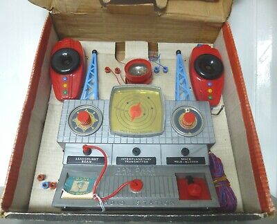 Merit Dan Dare Radio Station Electronic Space Control - Robots And Space Toys • 80£