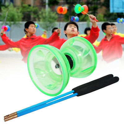 Triple Bearing Clutch Diabolo Sticks And String -Classic Diablo Metal Sticks Toy • 11.54£