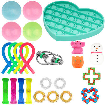 24PCS Fidget Sensory Toys Set Autism ADHD Stress Relief Special Need Education • 13.44£
