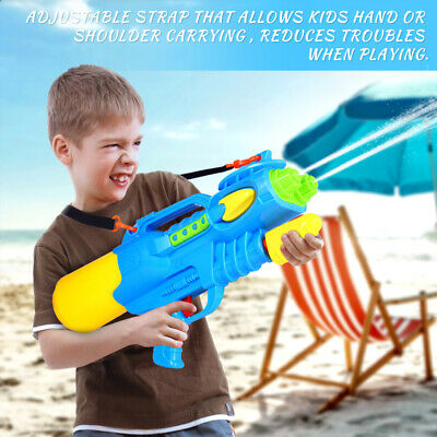 IBaseToy Large Water Guns & Shoulder Strap 2 Nozzles Kids Water Shooter Game Toy • 8.24£