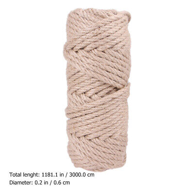 30M Natural Sisal Hemp Rope String Cat Scratcher Rope Playing Toy Pet Supply 6mm • 14.19£