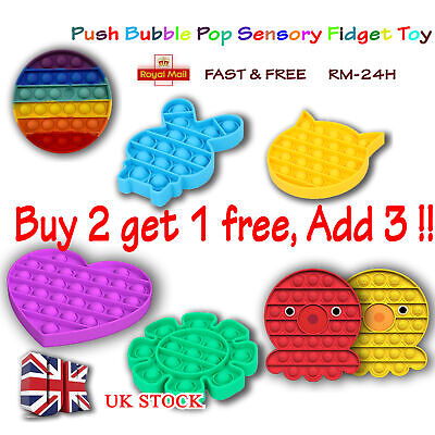 Push Bubble Pop Sensory Fidget Toy Stress Relief Kids Tiktok Family Game Gift UK • 4.99£
