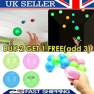 4PCS Sticky Wall Balls For Ceiling Stress Relief Globbles Squishy Kids Adult Toy • 6.99£