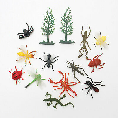 12pcs PVC Insect Figures Bugs For Child Kids Gift Toy UK Stock • 3.80£