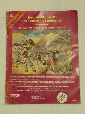 Dungeons And Dragons B2 The Keep On The Borderlands TSR Basic Module • 8.50£