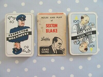 Vintage Sexton Blake Card Game By Waddy Productions • 15£