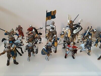 Schleich & Papo Knights, Medieval, Fantasy Figures X27, Plastic Toy Soldiers • 40£