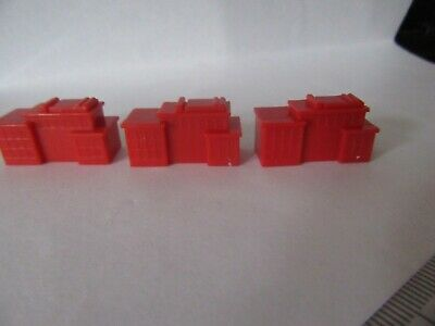 MONOPOLY CITY,game Spares, Red Buildings X 3 • 2.20£