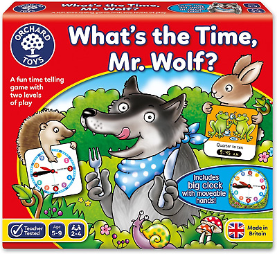 Orchard Toys Whats The Time, Mr Wolf Game • 7.80£