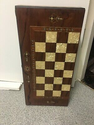 """20""""Handmade Inlaid Helena Backgammon Set With Mother Of Pearl • 100£"""