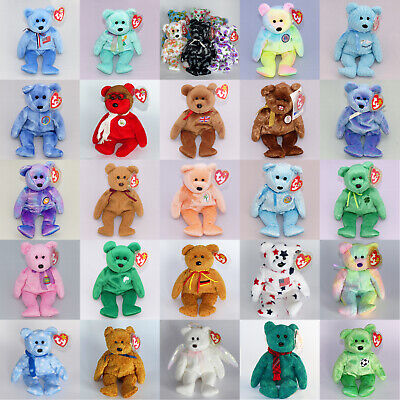 Selection Of MINT Collectable TY Beanie BABIES BEARS MWMT Rare Retired Retro NEW • 14.98£