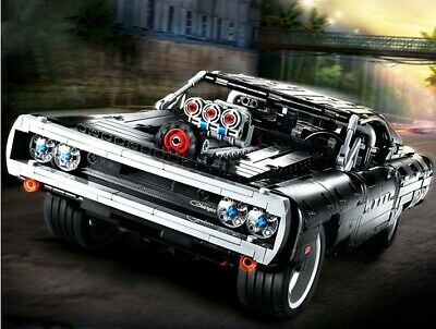 Technic Dom's Dodge Charger Racing Car Model, Iconic Collector's Building Set • 42.99£
