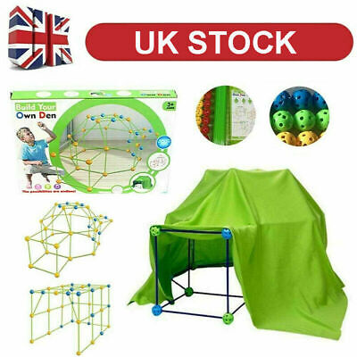 Building Your Own Den Kit Play Construction Fort Tent Making Set Builder Toy UK • 16.99£
