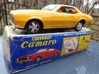 Vintage 1960's Tinplate Battery Operated Taiyo Chevrolet Camaro. • 21.20£