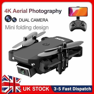 Foldable Drone X Pro WIFI FPV 4K HD Wide Angle Camera Selfie RC Quadcopter Gifts • 22.45£