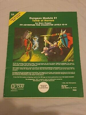 Dungeons & Dragons AD&D TSR 1981 - S1 TOMB OF HORRORS GARY GYGAX 9022 VGC  • 8.50£