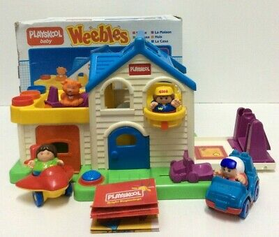 Playskool Baby Weebles House 3 X Weebles Original Box Preowned (850DS) • 10£