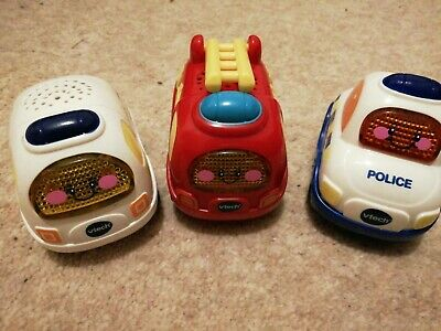 Set Of 3 Working Vtech Toot Toot Emergency Services Vehicles Cars   • 4.20£