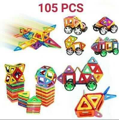 105PCS Children's Educational Puzzles With Magnetic Building Blocks... • 20£