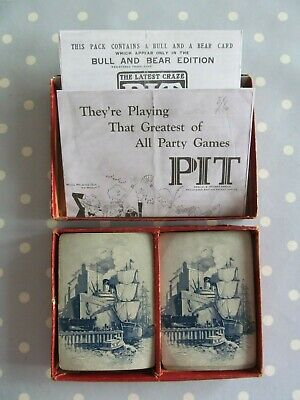 Vintage Pit Card Game By Parker Brothers Bull And Bear Edition • 12.50£