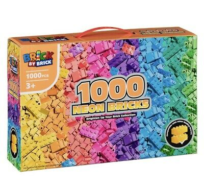 Lego Compatible Neon Bricks Set 1000 Pieces Construction Toy Game For Girls • 14.99£