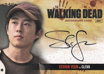 Walking Dead Season 1 Autograph Card A5 Steven Yeun As Glenn • 79.34£