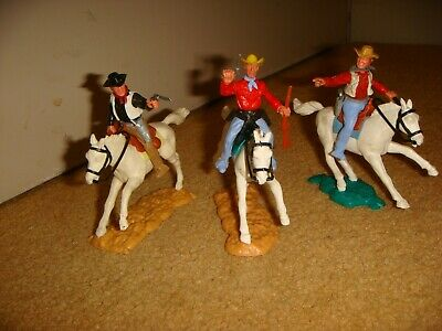 3 Vintage Timpo Mounted Cowboys • 4.99£