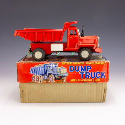 Vintage Asahi Japanese Tinplate - Battery Operated Dump Truck - Boxed! • 34.99£