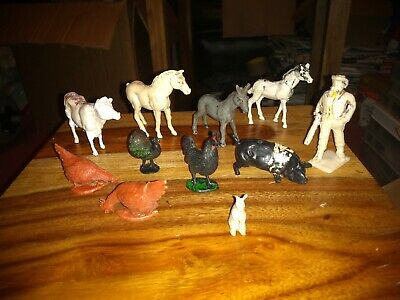 Cherilea Farm Animals & Farmer Figure. • 3£