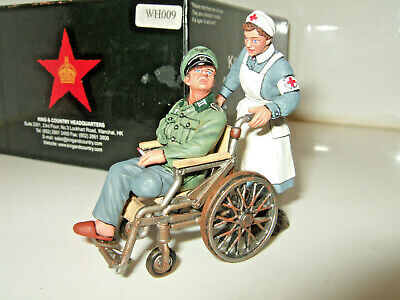 KING & Country WH009, Disabled Wehrmacht German Officer, Nurse & Wheelchair 1:30 • 83.85£