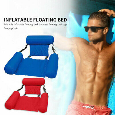 Inflatable Swimming Floating Chair Swimming  Pool Seat Foldable Water Bed Lounge • 15.04£
