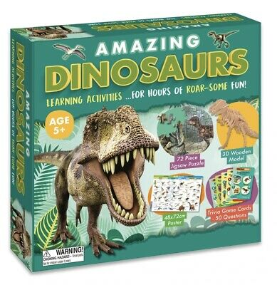 Amazing Dinosaurs Learning Activities Childrens Set Jigsaw Puzzle 3D Model Game • 3.99£