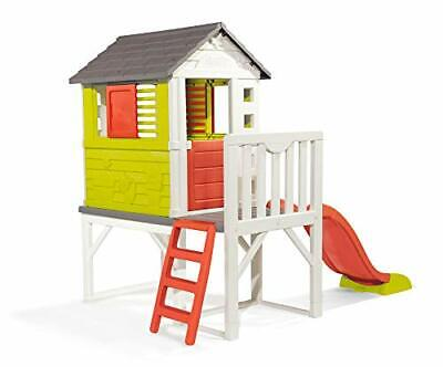 Smoby Kids Playhouse On Stilts With Slide   Strong And Durable Wendy House, • 456.59£
