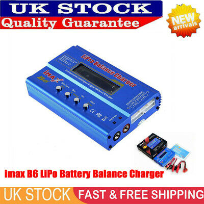 80W LCD Digital FAST IMAX B6 AC Lipo NiMH Polymer RC Battery Balance Charger Pro • 16.59£
