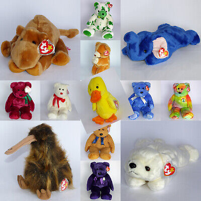 Selection Of MINT Collectable TY Beanie BUDDIES MWMT Rare Retired Retro - NEW • 38.98£