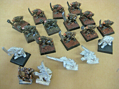 Warhammer OOP Metal Skaven Slaves/Warriors  X18 • 36£