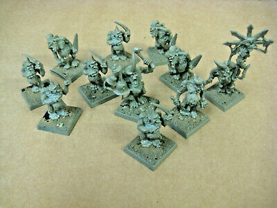 Warhammer OOP Metal Chaos Army Plague Bearers X11 • 33£