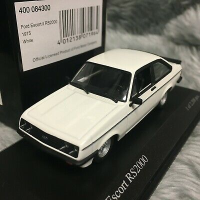 Minichamps 1:43 Ford Escort Mk2 RS2000 1975 Diamond White 400-084300 • 125£