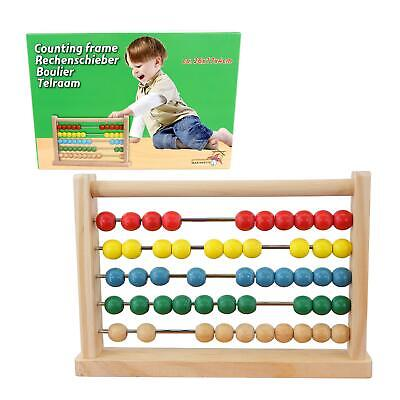 Wooden Abacus Counting Beads Number Frame Learning Maths Toy Made Of Real Wood • 5.65£