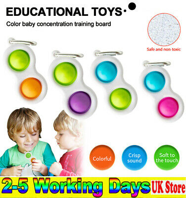 Simple Dimple Sensory Toys-Silicone Flipping Board Brain Teasers Best Gift Child • 4.99£