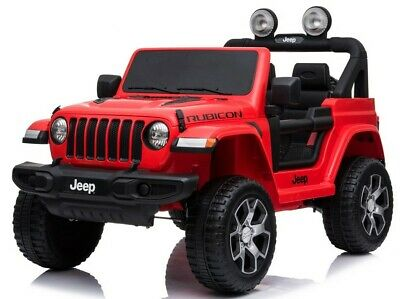 Licensed Kids Wrangler Rubicon 2 Seater 12v Electric Battery Ride On Jeep Red • 224.95£