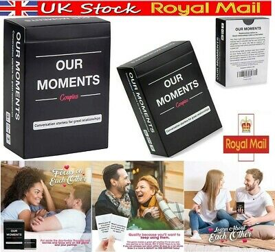 OUR MOMENTS Couples 100 Conversation Starters Relationship Game • 7.99£